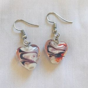 🌼 Swirling Murano Glass Earrings Handmade
